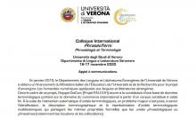 Colloque International PhraséoTerm Phraséologie et Terminologie (Università degli Studi di Verona, 16-17 novembre 2020)