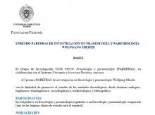 I PREMIO PAREFRAS DE INVESTIGACIÓN EN FRASEOLOGÍA Y PAREMIOLOGÍA WOLFGANG MIEDER